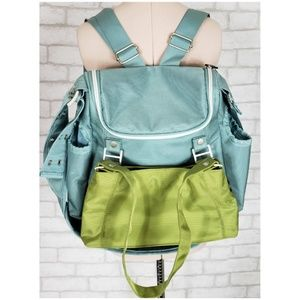Loom Blue Green Bandicoot Convertible Diaper Bag